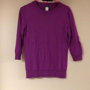 J.Crew Magenta  Merino Wool Sweater